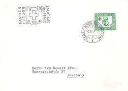 """Sonderstempel  """"Fahnenehrung Salut Aux Drapeaux, Bern""""            1945 - Cartas"""
