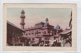 JUMA MUSJID, BOMBAY-VINTAGE LANDSCAPE AVEC RELIEF CPA CIRCA 1900s - BLEUP - India