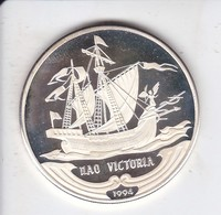 MONEDA DE PLATA DE CUBA DE 10 PESOS AÑO 1994 NAO VICTORIA (SILVER-ARGENT) BARCO-SHIP - Cuba