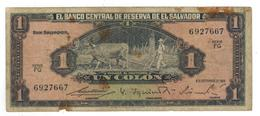 El Salvador 1 Colon 1964, VG. Rare - El Salvador