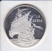 MONEDA DE PLATA DE CUBA DE 10 PESOS AÑO 1994 LA INDIA (SILVER-ARGENT) BARCO-SHIP - Cuba
