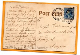 USA 1910 Postcard Mailed To Hungary - Hungary