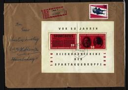 DDR - RECO-Beleg Mi-Nr. Block 25 Tagesstempel JENA - DDR