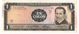 El Salvador 1 Colon 1971, XF/AUNC. Rare - El Salvador
