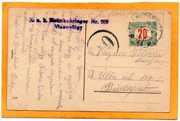 Hungary WW1 Postcard Mailed Postage Due - Hungary