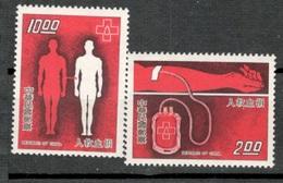 TAIWAN1977:BLOOD DONATIONS Michel1193-4mnh** - 1945-... Republik China