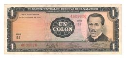 El Salvador 1 Colon 1972, (16/Feb/1977) XF. Rare - El Salvador