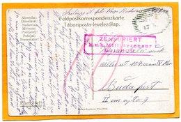 Hungary WW1 Postcard Mailed Censored - Hungary