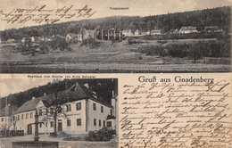 GNADENBERG GERMANY-TOTALNSICHT-GASTHAUS Zum KLOSTAR Von ALOIS SCHUSTER-1925 POSTMARK POSTCARD 39984 - Schlesien
