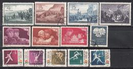 1957-58  Michel Nº 330 / 334, 337 / 340, 346, 413 / 415, - 1949 - ... República Popular
