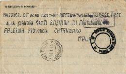 BIGLIETTO PRIGIONIERI POW CAMP 310 SUEZ EGITTO 1942 X FALERNA - 1900-44 Vittorio Emanuele III