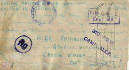 BIGLIETTO PRIGIONIERI POW CAMP 310 SUEZ EGITTO 1943 X CROTTA D'ADDA NAZI CENSOR - Posta Militare (PM)