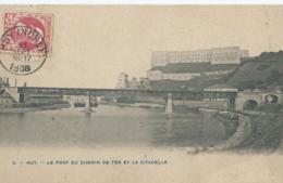Hoei - Huy - 5 - Le Pont Du Chemin De Fer Et La Citadelle - 1908 - Huy