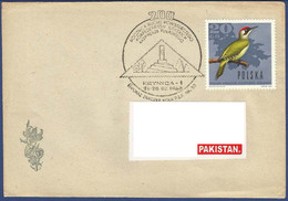 POLAND POSTAL USED AIRMAIL COVER TO PAKISTAN BIRD BIRDS SPECIAL POSTMARK - Ohne Zuordnung