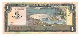 El Salvador 1 Colon 1982, AUNC/UNC Some Stains. - El Salvador