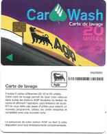 @+ Carte De Lavage AGIP - 20 UNITES (avec Code Barre Au Verso) - France - Frankrijk