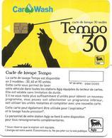 @+ Carte De Lavage AGIP - Tempo 30 UNITES - France - Frankrijk