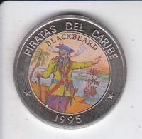 MONEDA DE CUBA DE 1 PESO DEL AÑO 1995 DE PIRATAS DEL CARIBE - BLACKBEARD - Cuba