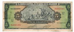 El Salvador 5 Colones 1983, VF. - Salvador