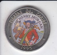 MONEDA DE CUBA DE 1 PESO DEL AÑO 1995 DE PIRATAS DEL CARIBE - SIR HENRY MORGAN - Cuba