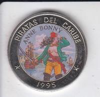 MONEDA DE CUBA DE 1 PESO DEL AÑO 1995 DE PIRATAS DEL CARIBE - ANNE BONNY - Cuba