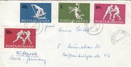 RUMÄNIEN 1969 - 4 Sondermarken Auf Brief Gel.v. Mamaia N. München - 1948-.... Republiken
