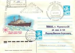 "M60 USSR 1984 Nuclear Icebreaker ""LENIN"" Helicopter Mail. - Polar Flights"