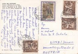 VATICAN 1975 - 4 Fach Frankierung Auf Ak CITTA DEL VATICANO - Vatikan