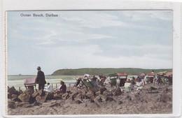 OCEAN BEACH. DURBAN-VINTAGE LANDSCAPE SEA MER CPA CIRCA 1900s - BLEUP - Sud Africa