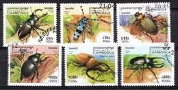 CAMBODJA 1998 MI.NR. 1821-1826 Käfer  USED / GEBRUIKT / OBLITERE 1994 - Cambodja