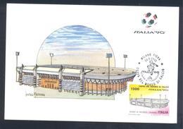 Italy 1990 Maximum Card: Football Fussball Soccer Calcio: Fifa World Cup Italia; Stadium Stadio La Favorita Palermo - World Cup