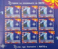 Republic Of North Macedonia / 2019 / Mini Sheet / The 70th Anniversary Of Foundation Of NATO - Macédoine