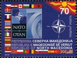 Republic Of North Macedonia / 2019 / The 70th Anniversary Of Foundation Of NATO - Macédoine