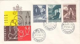 VATICAN 1958 - 3 Fach Frankierung Auf Lordes Brief, Vatican-Stempel - Vatikan