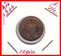 MONEDA DE 1 Pta  AÑO 1944 PRUEBA DE CADIZ - [ 4] 1939-1947 : Gobierno Nacionalista
