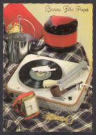 96375/ FETE DES PERES, Années Vintage, Cadeaux D'époque, Cigarettes, Pipe, Electrophone, Réveil De Voyage - Holidays & Celebrations