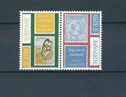 SURINAME, 2001 Stamp Day Pair MNH - Surinam