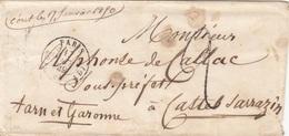 FRANKREICH 1849? - Kleiner Faltbrief Gel. 3 Stempel - Frankreich