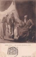 ORSEL, VICTOR. AGAR PRESENTEE A ABRAHAM PAR SARAH. LL-CPA OBLITEREE NANCY STEAMER PAQUEBOT AN 1910 - BLEUP - Peintures & Tableaux