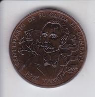 MONEDA DE CUBA DE 1 PESO DEL AÑO 1995 DE JOSE MARTI - Cuba
