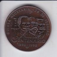 MONEDA DE CUBA DE 1 PESO DEL AÑO 1995 DE GUERRA NECESARIA 1895-1995 - Cuba