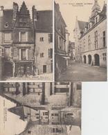 Lot De 3 CPA Sarlat - Hôtel De Maleville / Maison Natale De Etienne De La Boëtie / Le Théâtre - Sarlat La Caneda