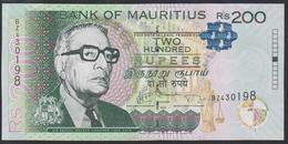 Mauritius 200 Rupees 2013 P61b UNC - Maurice