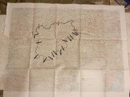 8F) MAPPA CARTA GEOGRAFICA TRENTINO TIROLO THE WAYS OF INVASION INTO ITALY INVASIONE IN ITALIA FORMATO 90 X 72 Cm CIRCA - 1914-18