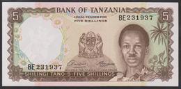 Tanzania 5 Shilingi 1966 P1 UNC - Tanzania