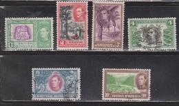BRITISH HONDURAS Scott # 115-20 Used  - KGVI & Various Scenes - British Honduras (...-1970)