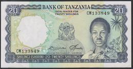 Tanzania 20 Shilingi 1966 P3e UNC - Tanzanie