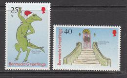 1998 Bermuda Christmas Noel Navidad Complete Set Of 2 MNH - Bermuda