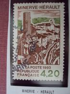 """90-99-  Timbre Oblitéré  N°  2818 """"  Minerve, Dans L'hérault  """"    0.20 - France"""
