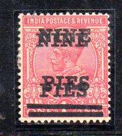 APR83 - INDIA INGLESE 1921 ,  Giorgio V Yvert N. 108  Nuovo  **  (2380A) : DOPPIA SOPRASTAMPA .RARA - 1911-35 King George V